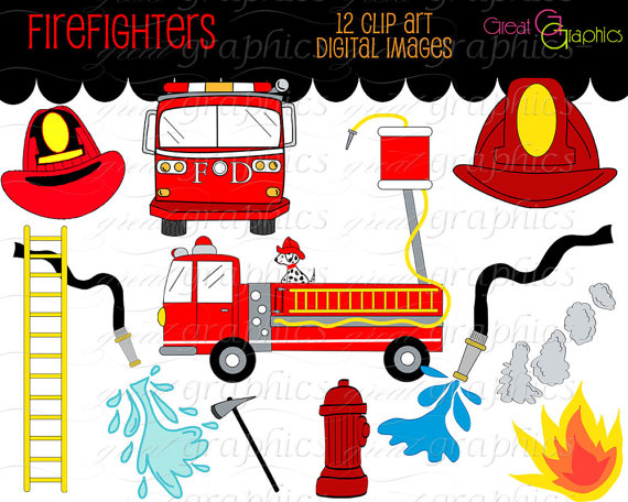 Fire Truck Ladder Clipart.