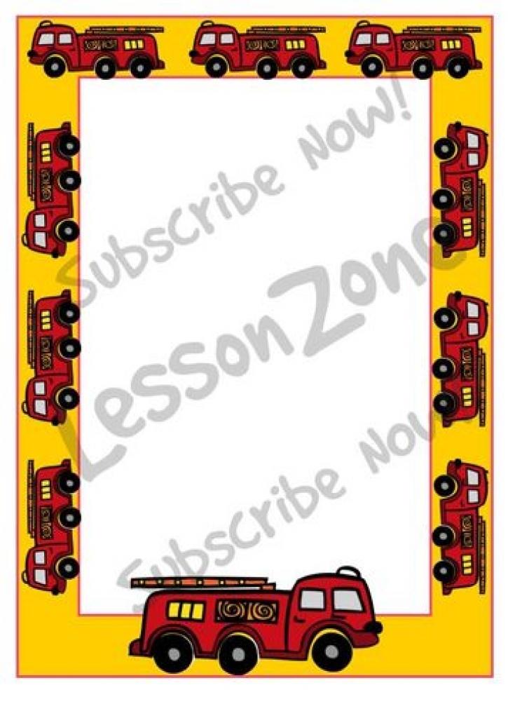 Fire Truck Border Clip Art.