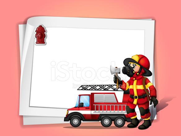 Fire Engine Border Clip Art.