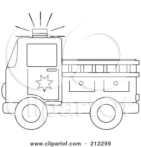 Fire Truck Stencil.
