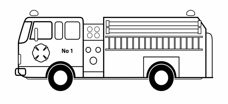 Picture Royalty Free Library Car Fire Engine Coloring.