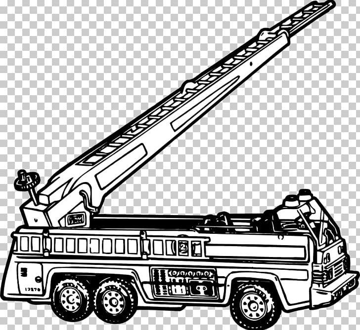 Car Fire Engine Black And White PNG, Clipart, Automotive Design.