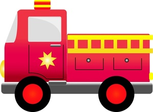 Fire truck clipart free images 4.