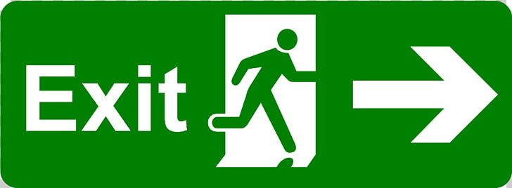 Exit sign Emergency exit Safety Signage, Exit Signs s PNG.