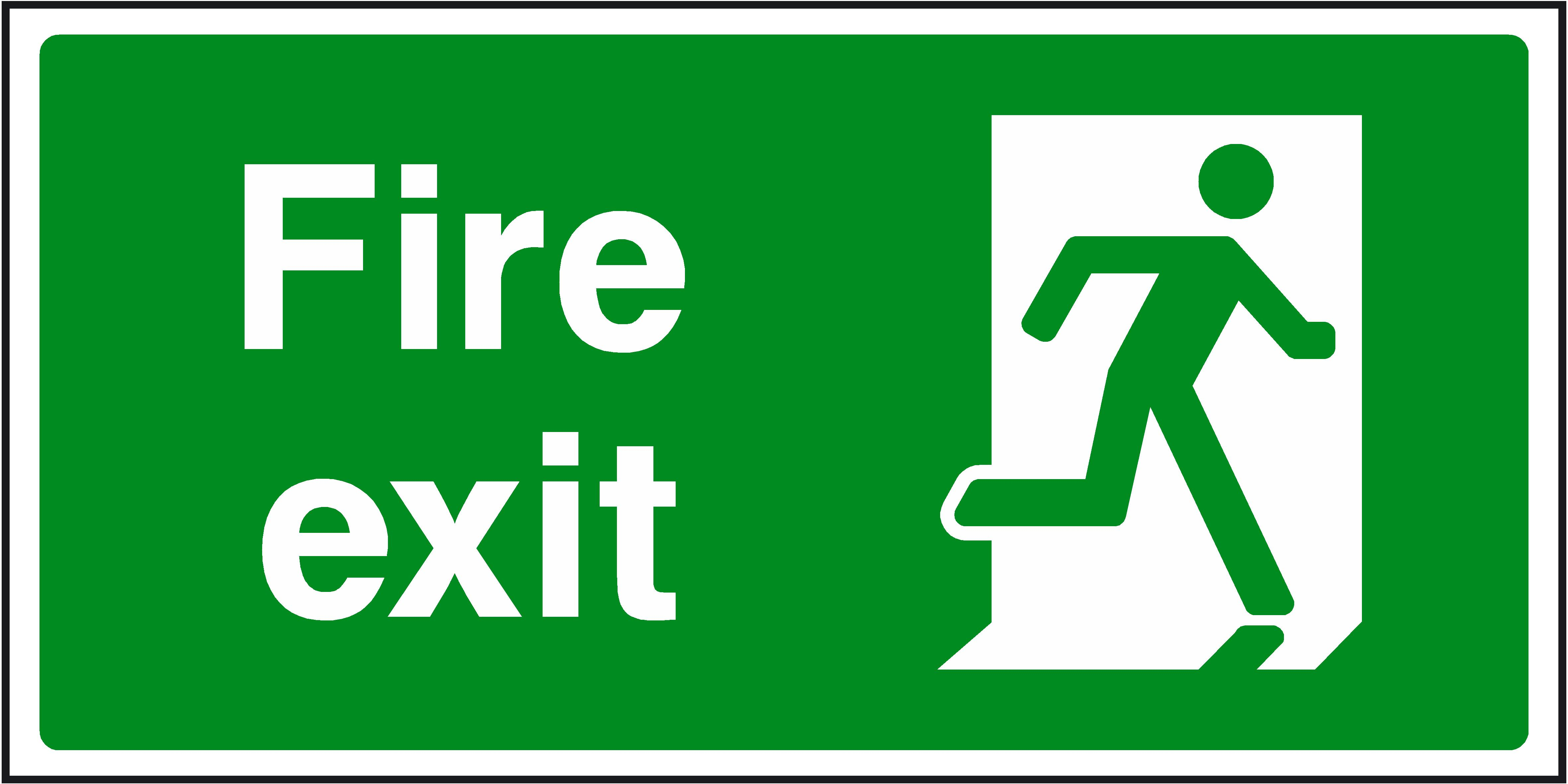 Emergency Exit Signs.