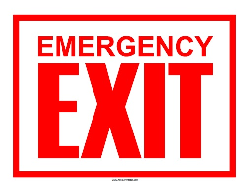 Free Emergency Exit Signs, Download Free Clip Art, Free Clip.
