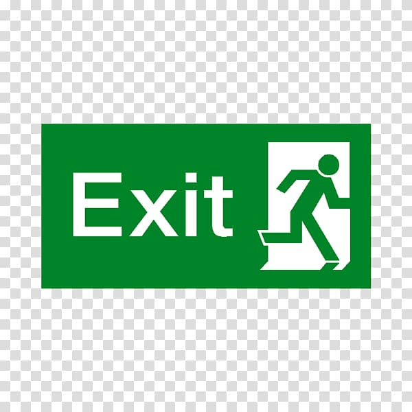 Exit sign Emergency exit Building Signage Safety, exit.
