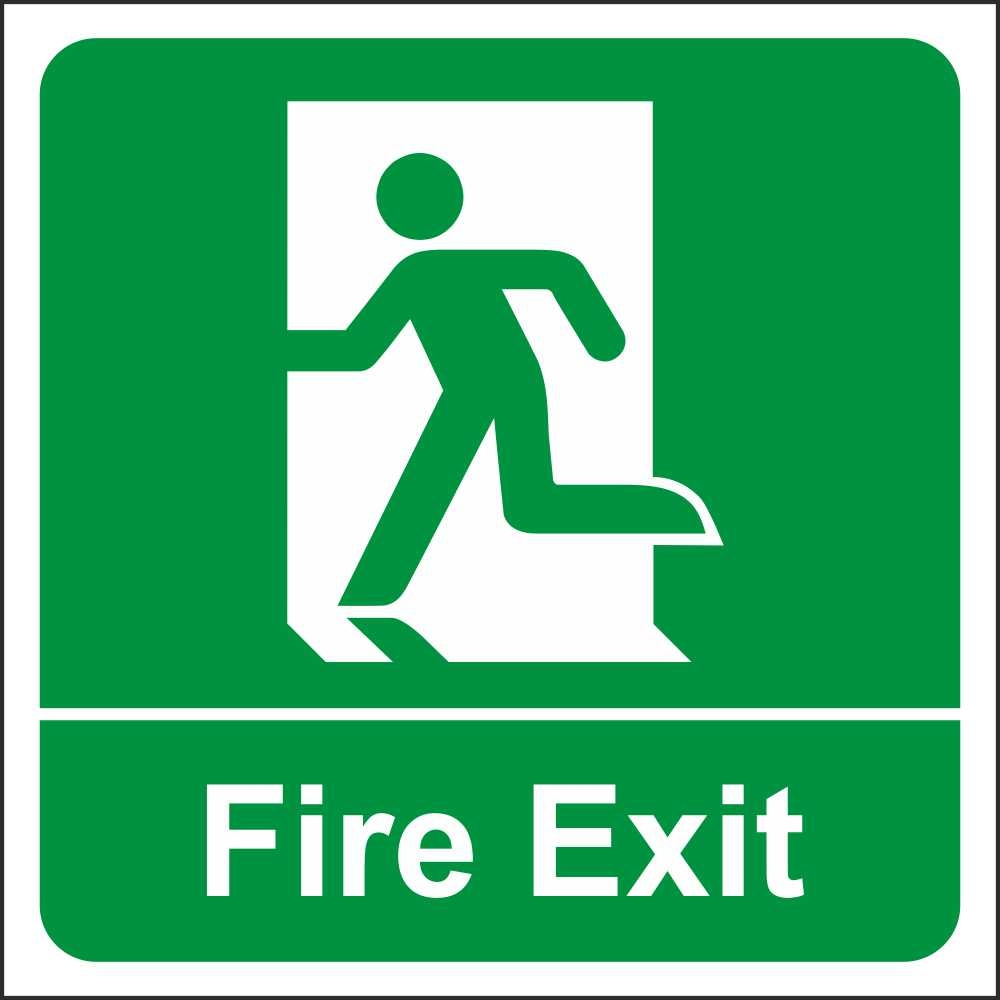 Collection of free Fleeing clipart fire exit symbol.