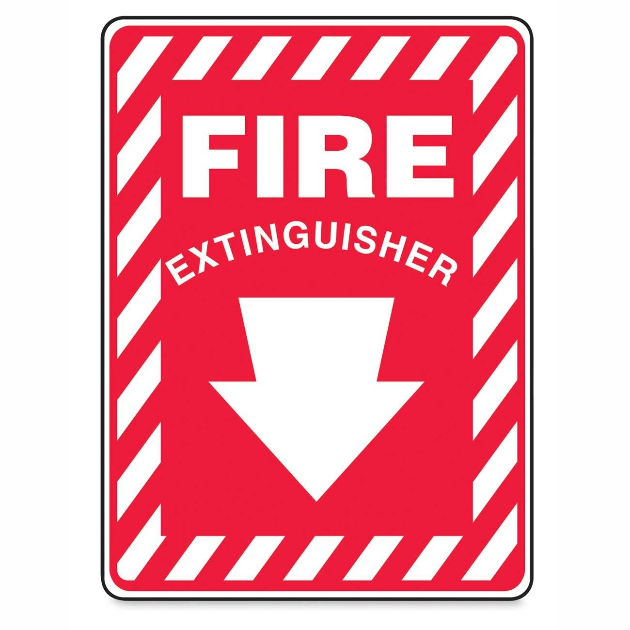 Clipart fire extinguisher symbol.