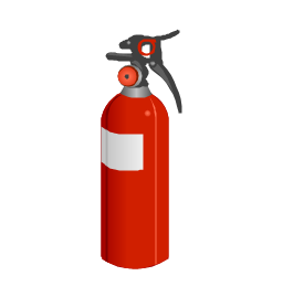Fire extinguisher training clipart.