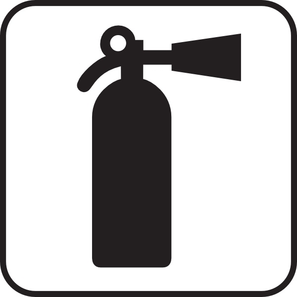 Fire Extinguisher White clip art Free vector in Open office.