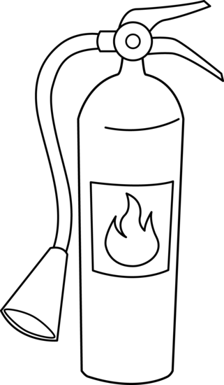 Fire Extinguisher Clipart Black And White.