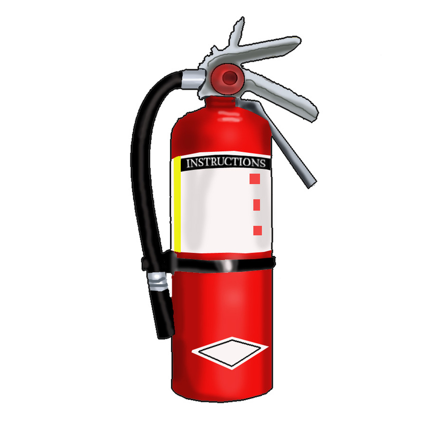 Fire Extinguisher Clipart Book 1150.