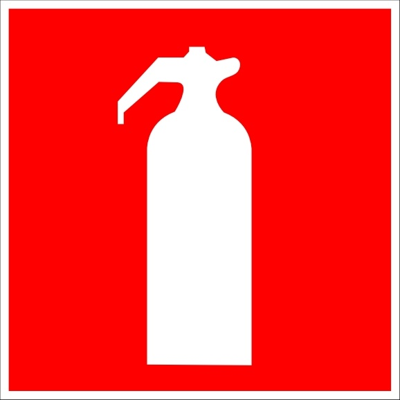 Fire Extinguisher Sign clip art Free vector in Open office.