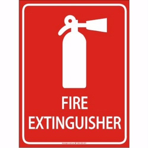 Fire Extinguisher Signage.