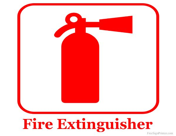 Printable Fire Extinguisher Sign.