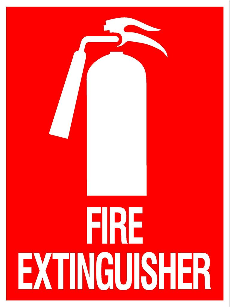 Printable Fire Extinguisher Signs.