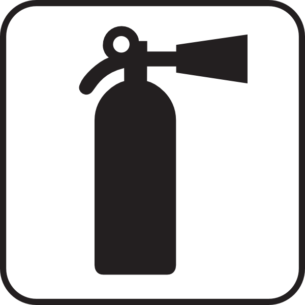 Fire Extinguisher White Clip Art at Clker.com.