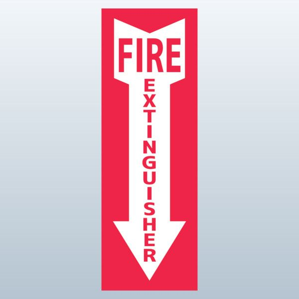 Fire Extinguisher Sign (Clip Art).