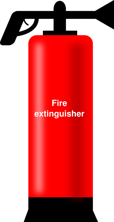 Free vector graphic: Fire, Extinguisher, Red, Foaming.