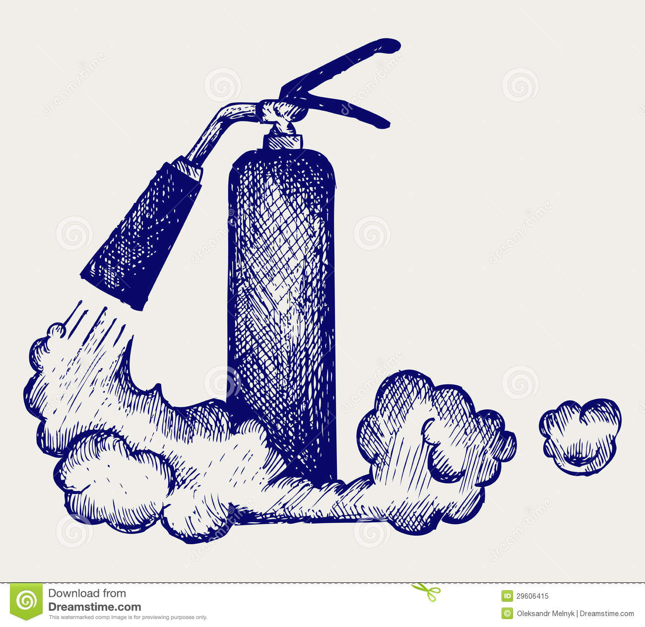 Fire Extinguisher And Foam Royalty Free Stock Photo.