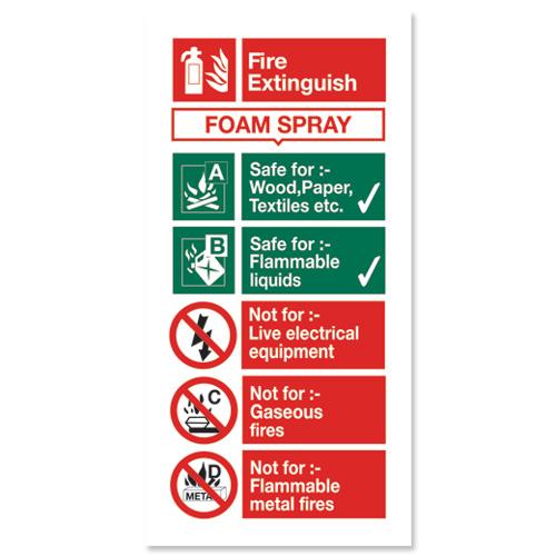 Stewart Superior Sign AFFF Foam Fire Extinguisher W100xH200mm Self.