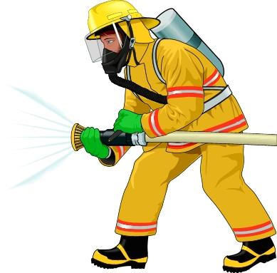 Fire Fighter Clip Art.