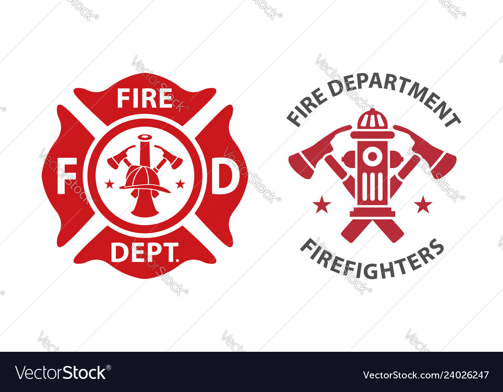 Fire department logo.