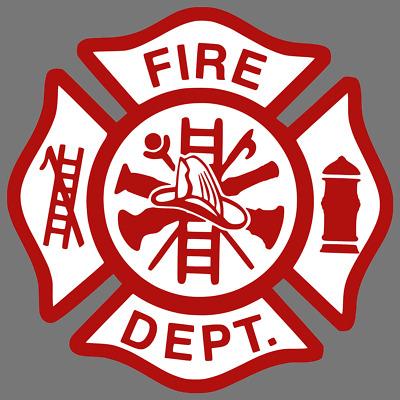 FIRE DEPARTMENT LOGO Firefighter Dept Car Truck Window Decal.