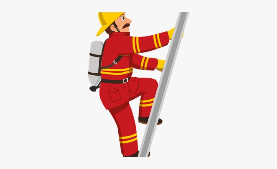 Firefighter Clipart Ladder.