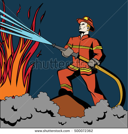 Firefighter Stock Photos, Royalty.