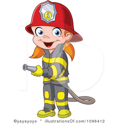 Fire Fighter Cartoon Clipart.