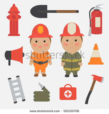 Firefighting Stock Images, Royalty.