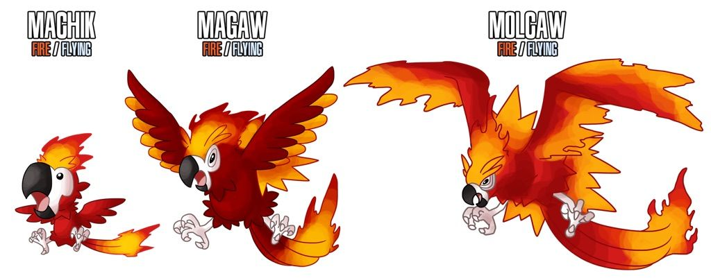 Top 5 Fakemon fire starters for PSAM.