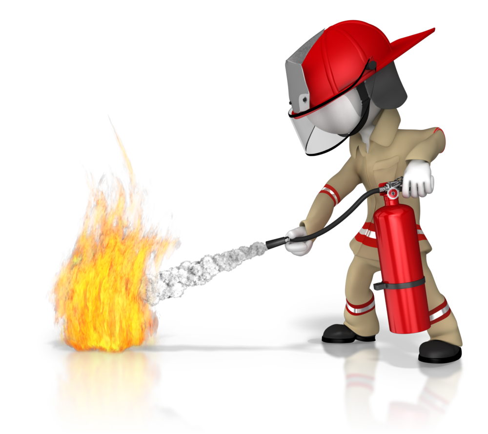 Fire fighting training clipart.