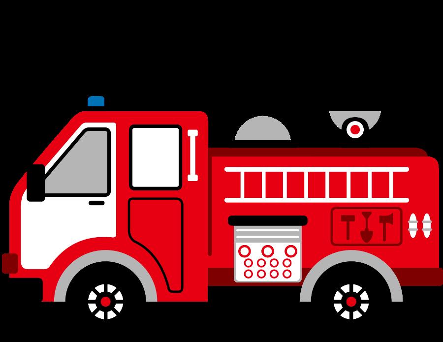 Cartoon Clip Art Firetruck Emergency Vehicle Truck Standing Photo.