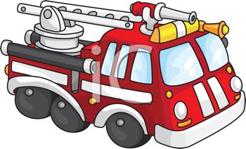 Cartoon of a Toy Fire Engine.