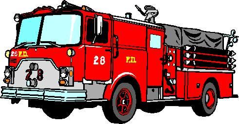 Firefighter Fire Truck Clipart.