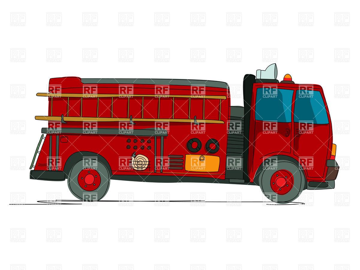 Side view of fire truck (fire.