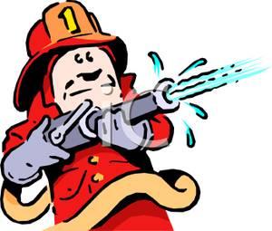 Firefighter Hose Clipart.
