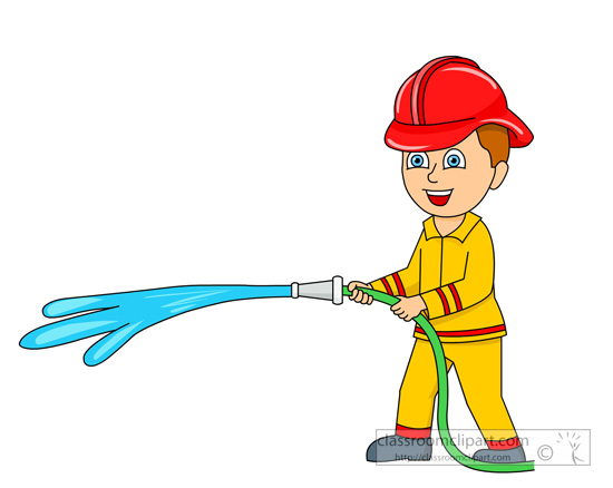 Fire Hose Water Clipart.