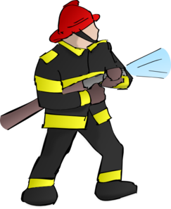Firefighter hose clipart.