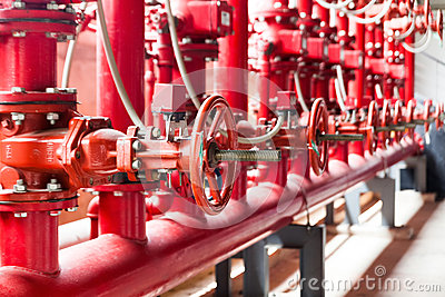 Fire Fighting System Stock Image.