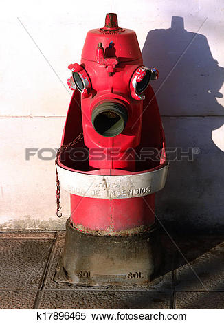 Stock Illustration of emergency water supply for firefighters.
