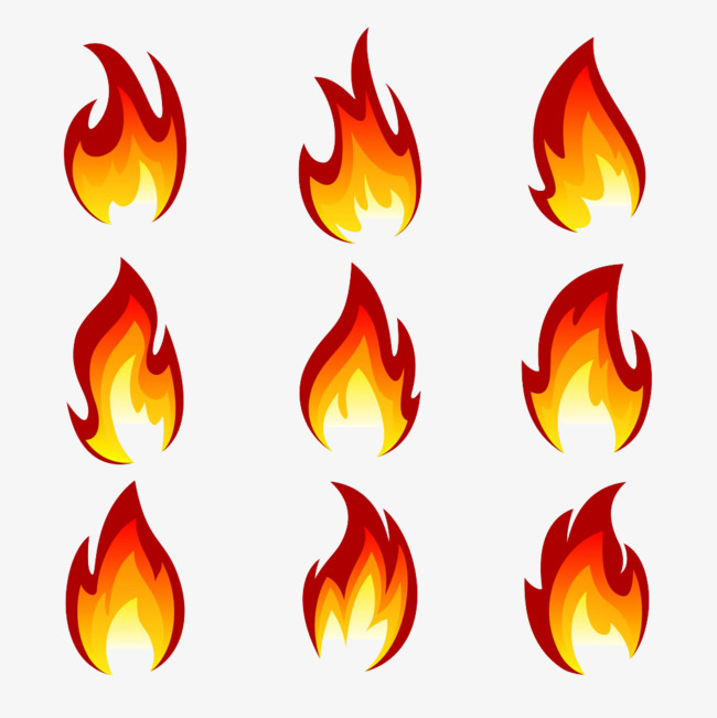 Fire flame clipart 3 » Clipart Station.