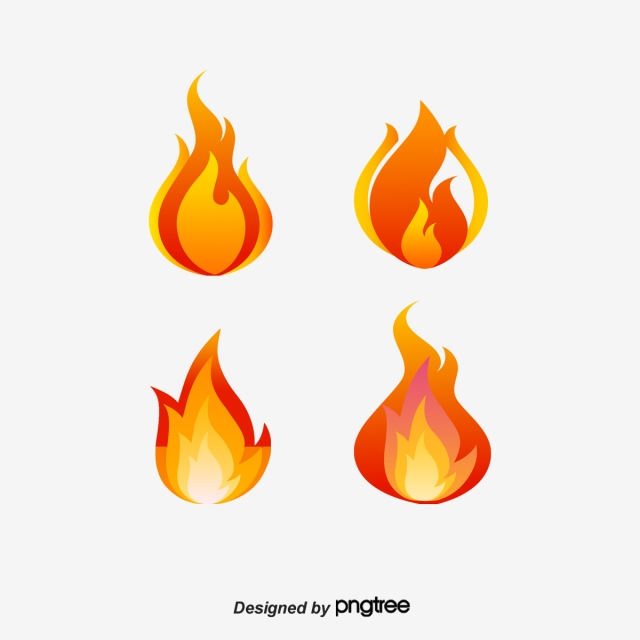 Vector Red Flame Chart, Flame Clipart, Color Of Fire, Red Flame PNG.