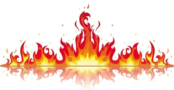 Realistic fire flames clipart 3 » Clipart Station.