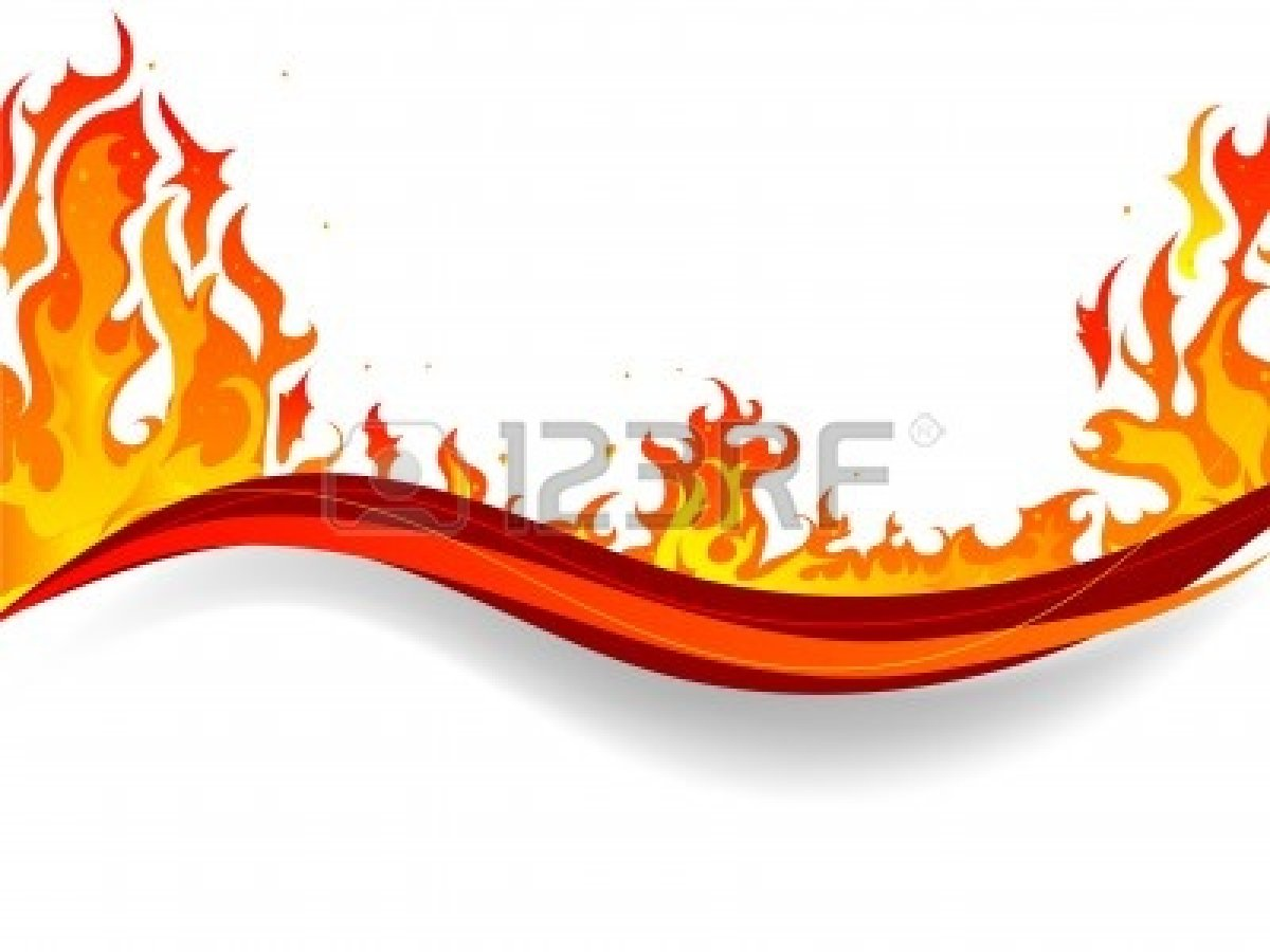 Flame Clipart Border.