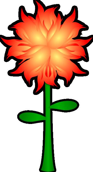 Fire Flower clip art Free Vector / 4Vector.