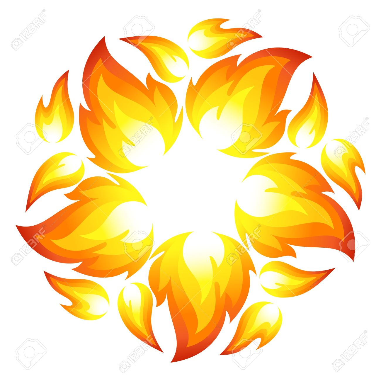 Fire Flower Royalty Free Cliparts, Vectors, And Stock Illustration.